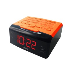 MICROLAB RADIO RELOJ USB ORANGE 7916