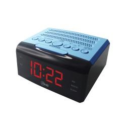 MICROLAB RADIO RELOJ USB AZUL 7917