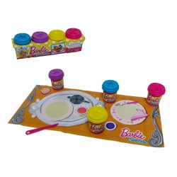ANSALDO-SET 4 POTES DE MASAS BARBIE 16220