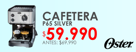 Cafetera Oster P65 Silver