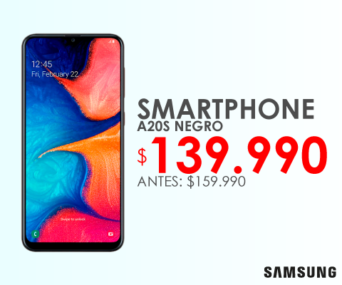 Celular Samsung A20S negro