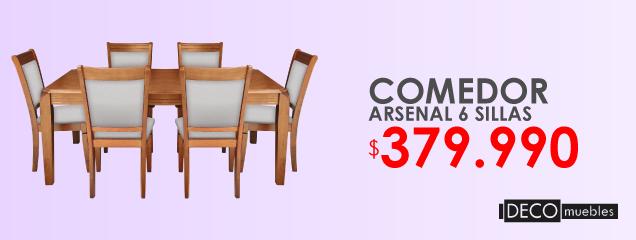 Comedor Arsenal 6 Sillas