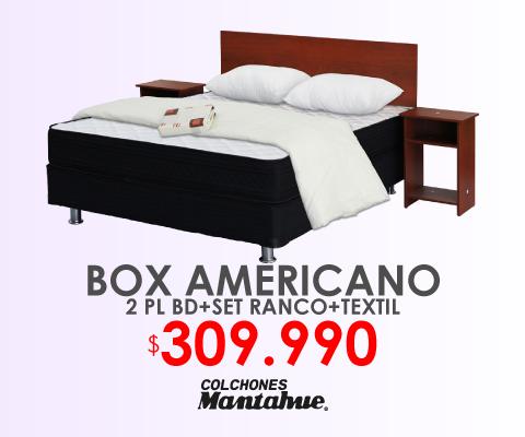 Box Americano 2 plazas Mantahue