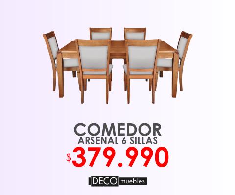 Comedor Arsenal 6 sillas Deco muebles