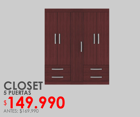 Closet 5 puertas